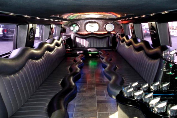 Interior White Hummer Limo Rental Falls City